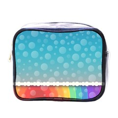 Rainbow Background Border Colorful Mini Toiletries Bags