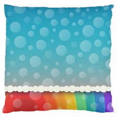 Rainbow Background Border Colorful Large Cushion Case (two Sides) by Amaryn4rt