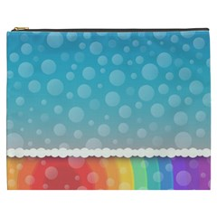 Rainbow Background Border Colorful Cosmetic Bag (xxxl)