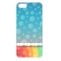 Rainbow Background Border Colorful Apple Iphone 5 Seamless Case (white)