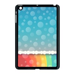 Rainbow Background Border Colorful Apple Ipad Mini Case (black)