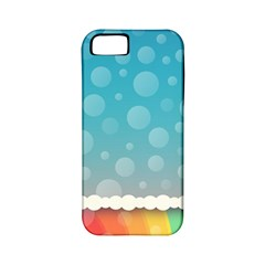 Rainbow Background Border Colorful Apple Iphone 5 Classic Hardshell Case (pc+silicone)