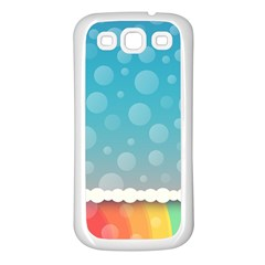 Rainbow Background Border Colorful Samsung Galaxy S3 Back Case (white) by Amaryn4rt
