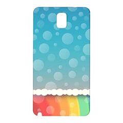 Rainbow Background Border Colorful Samsung Galaxy Note 3 N9005 Hardshell Back Case by Amaryn4rt