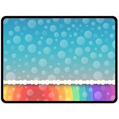 Rainbow Background Border Colorful Double Sided Fleece Blanket (large)  by Amaryn4rt