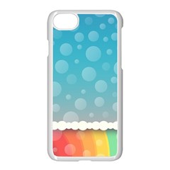 Rainbow Background Border Colorful Apple Iphone 7 Seamless Case (white) by Amaryn4rt