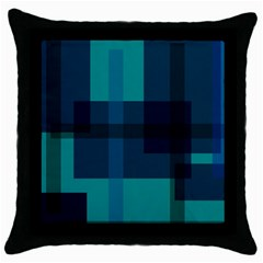 Boxes Abstractly Throw Pillow Case (black) by Amaryn4rt