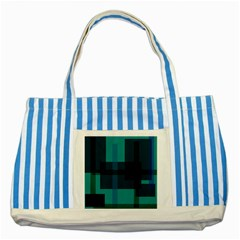 Boxes Abstractly Striped Blue Tote Bag by Amaryn4rt