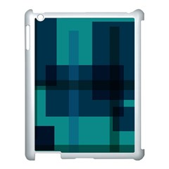 Boxes Abstractly Apple Ipad 3/4 Case (white) by Amaryn4rt