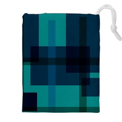 Boxes Abstractly Drawstring Pouches (xxl) by Amaryn4rt