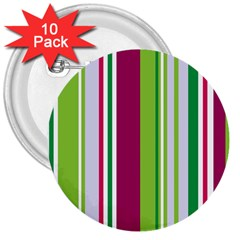 Beautiful Multi Colored Bright Stripes Pattern Wallpaper Background 3  Buttons (10 Pack)  by Amaryn4rt