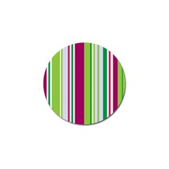 Beautiful Multi Colored Bright Stripes Pattern Wallpaper Background Golf Ball Marker by Amaryn4rt