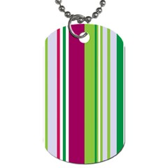 Beautiful Multi Colored Bright Stripes Pattern Wallpaper Background Dog Tag (two Sides) by Amaryn4rt