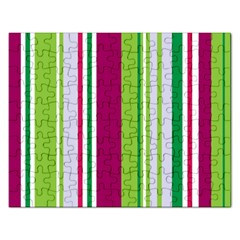 Beautiful Multi Colored Bright Stripes Pattern Wallpaper Background Rectangular Jigsaw Puzzl by Amaryn4rt
