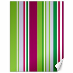 Beautiful Multi Colored Bright Stripes Pattern Wallpaper Background Canvas 36  X 48   by Amaryn4rt