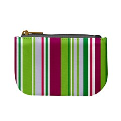 Beautiful Multi Colored Bright Stripes Pattern Wallpaper Background Mini Coin Purses by Amaryn4rt