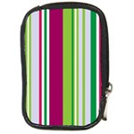 Beautiful Multi Colored Bright Stripes Pattern Wallpaper Background Compact Camera Cases Front