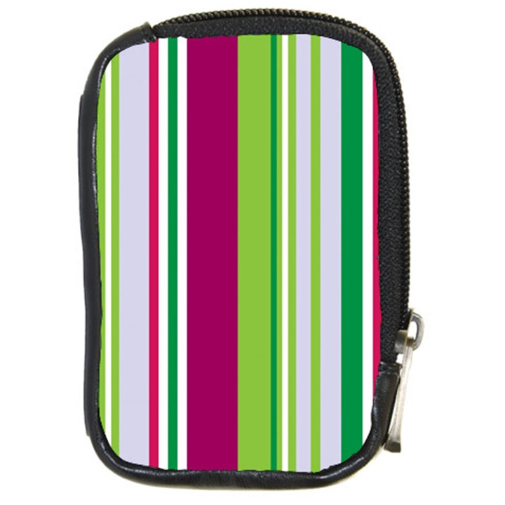 Beautiful Multi Colored Bright Stripes Pattern Wallpaper Background Compact Camera Cases