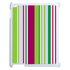 Beautiful Multi Colored Bright Stripes Pattern Wallpaper Background Apple Ipad 2 Case (white) by Amaryn4rt