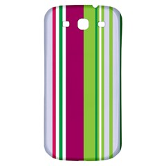 Beautiful Multi Colored Bright Stripes Pattern Wallpaper Background Samsung Galaxy S3 S Iii Classic Hardshell Back Case by Amaryn4rt