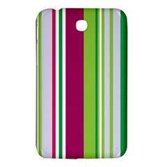 Beautiful Multi Colored Bright Stripes Pattern Wallpaper Background Samsung Galaxy Tab 3 (7 ) P3200 Hardshell Case  by Amaryn4rt