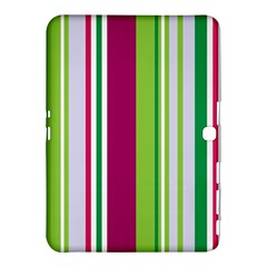 Beautiful Multi Colored Bright Stripes Pattern Wallpaper Background Samsung Galaxy Tab 4 (10 1 ) Hardshell Case  by Amaryn4rt