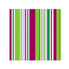 Beautiful Multi Colored Bright Stripes Pattern Wallpaper Background Small Satin Scarf (square) by Amaryn4rt