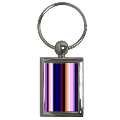 Fun Striped Background Design Pattern Key Chains (rectangle)  by Amaryn4rt