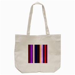 Fun Striped Background Design Pattern Tote Bag (cream) by Amaryn4rt