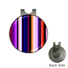 Fun Striped Background Design Pattern Hat Clips With Golf Markers