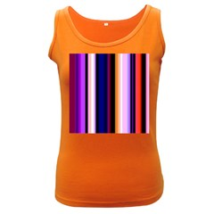 Fun Striped Background Design Pattern Women s Dark Tank Top by Amaryn4rt