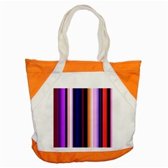 Fun Striped Background Design Pattern Accent Tote Bag by Amaryn4rt