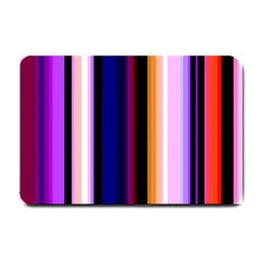 Fun Striped Background Design Pattern Small Doormat  by Amaryn4rt