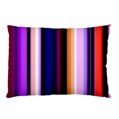 Fun Striped Background Design Pattern Pillow Case by Amaryn4rt