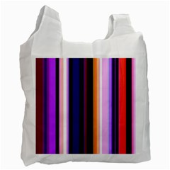 Fun Striped Background Design Pattern Recycle Bag (two Side)  by Amaryn4rt