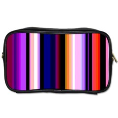 Fun Striped Background Design Pattern Toiletries Bags 2 Side