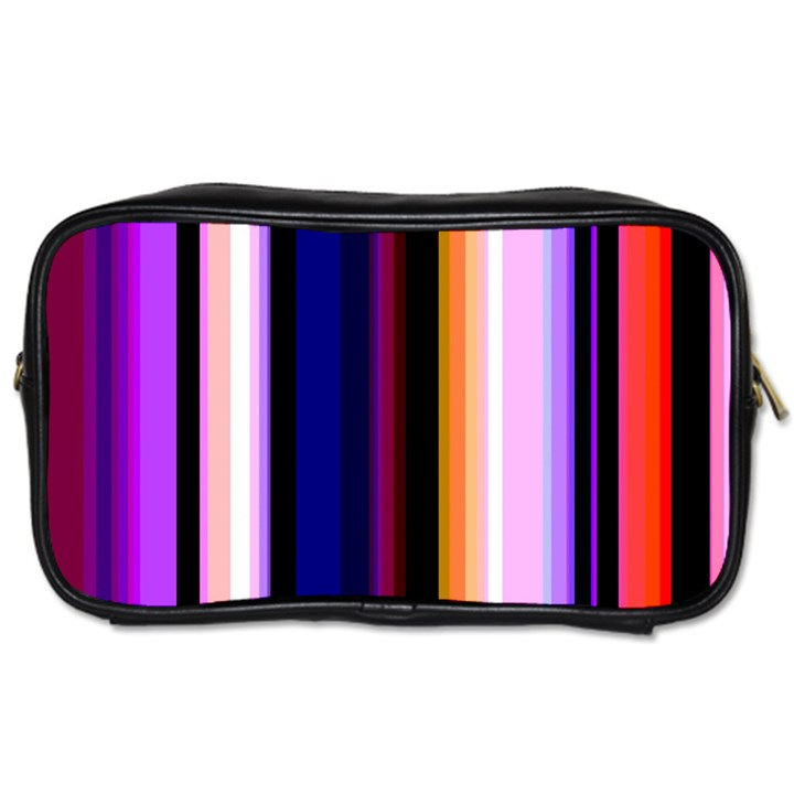 Fun Striped Background Design Pattern Toiletries Bags 2-Side