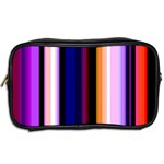 Fun Striped Background Design Pattern Toiletries Bags 2-Side Back