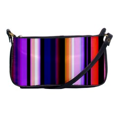 Fun Striped Background Design Pattern Shoulder Clutch Bags by Amaryn4rt