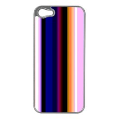 Fun Striped Background Design Pattern Apple Iphone 5 Case (silver) by Amaryn4rt