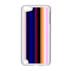 Fun Striped Background Design Pattern Apple Ipod Touch 5 Case (white) by Amaryn4rt