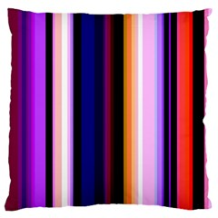 Fun Striped Background Design Pattern Large Flano Cushion Case (two Sides) by Amaryn4rt