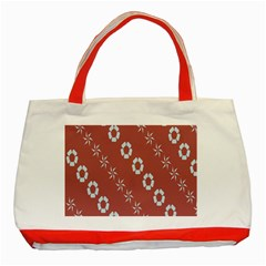 Abstract Pattern Background Wallpaper In Pastel Shapes Classic Tote Bag (red) by Amaryn4rt