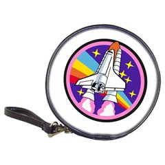 Badge Patch Pink Rainbow Rocket Classic 20 Cd Wallets by Amaryn4rt