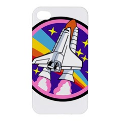 Badge Patch Pink Rainbow Rocket Apple Iphone 4/4s Hardshell Case by Amaryn4rt