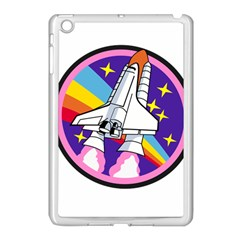 Badge Patch Pink Rainbow Rocket Apple Ipad Mini Case (white) by Amaryn4rt