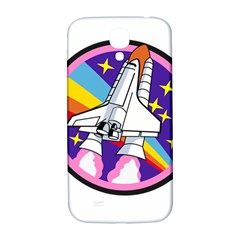Badge Patch Pink Rainbow Rocket Samsung Galaxy S4 I9500/i9505  Hardshell Back Case by Amaryn4rt