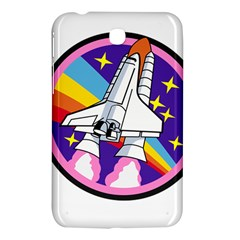 Badge Patch Pink Rainbow Rocket Samsung Galaxy Tab 3 (7 ) P3200 Hardshell Case  by Amaryn4rt