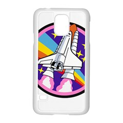 Badge Patch Pink Rainbow Rocket Samsung Galaxy S5 Case (white) by Amaryn4rt
