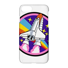 Badge Patch Pink Rainbow Rocket Apple Iphone 7 Hardshell Case by Amaryn4rt